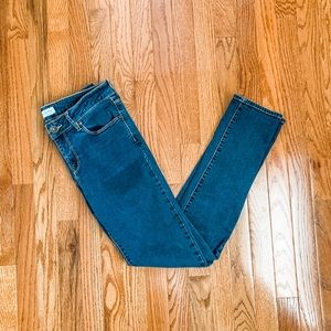 Bullhead Low Rise Skinny Jeans Dark Wash Size 11